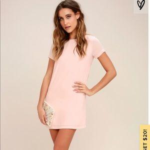 Lulus Pink T-shirt Dress -medium